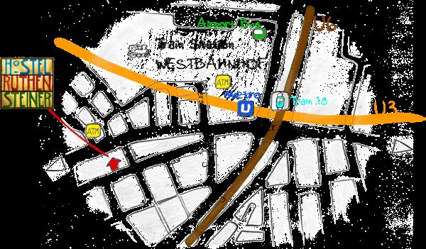 Hostel Ruthensteiner Map