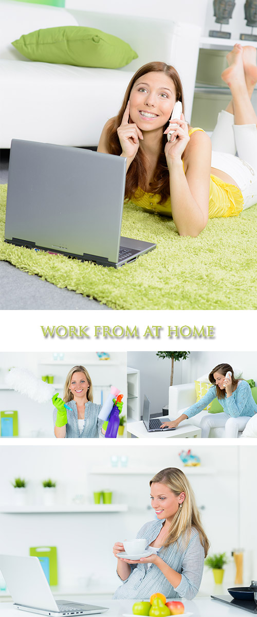 Stock Photo:  Work from at home