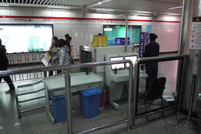 security and scanner in Shanghai metro