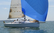 J/97 family racer-cruiser sailboat- sailing off France