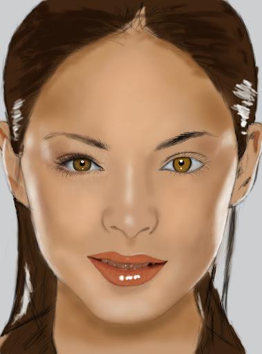 Digital Paint งานทดลองใช้ USB Graphic Tablet (เม้าส์ปากกา) Eyedetail