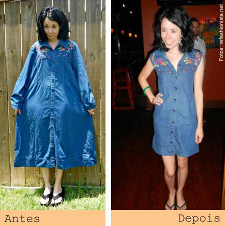 ReFashionista transforma roupas - vestido jeans