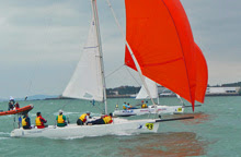 J/80s sailing in China Club Match Race