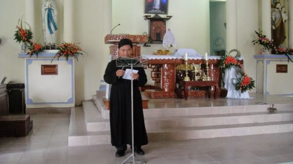 Hình ảnh Giáo xứ Diêm Điền đón Cha Phó Tôma Hồ Chí Toàn