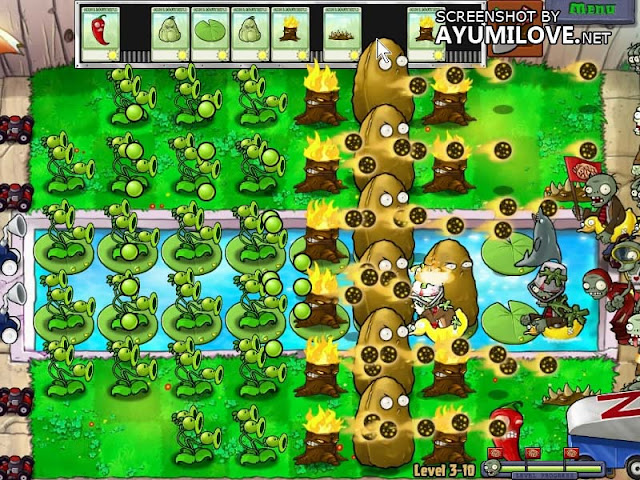 Plants vs Zombies Stage 3-10 Layout