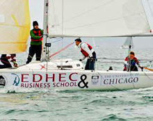 J/80s sailing college EDHEC Regatta in France