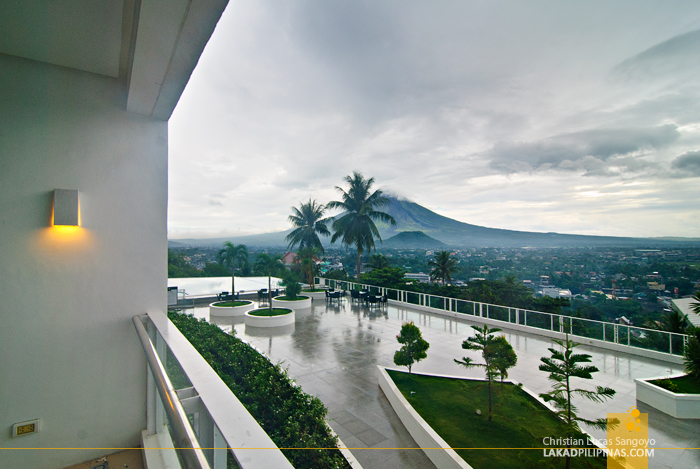 Morning View at Legazpi City's The Oriental Hotel