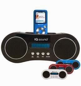 SUPERSONIC IQ-1304 PORTABLE MP3 DOCK, AM/FM, USB/SD/AUX INPUTS FOR iPod BLUE