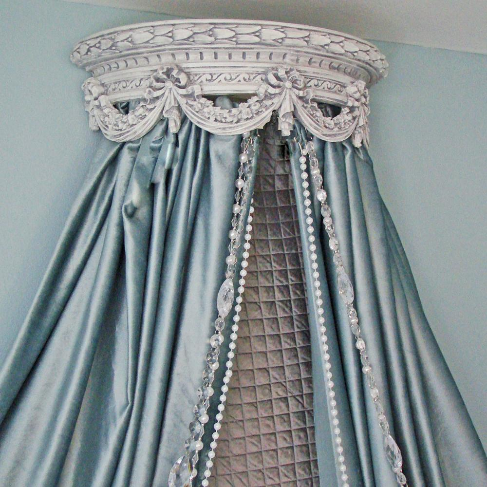 Style Decor Amp More A No Sew Project Canopy Bed Crown