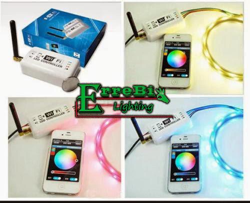 STRISCIA ADESIVA LED SMD LUCE MULTICOLOR 5050 30LED IP65 VENDITA A MT STRIP RGB  eBay