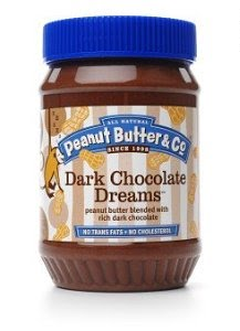 photo f a jar of dark chocolate peanut butter