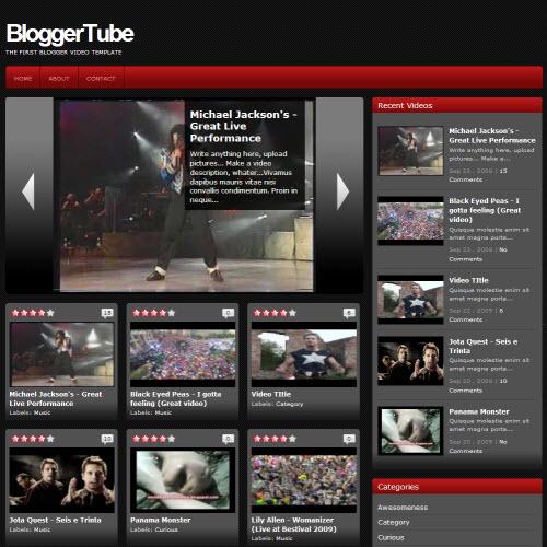 Blogger Tube,blogger,Templates for blogger