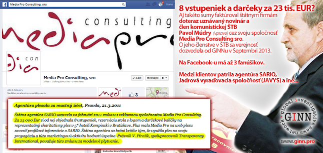 Pavol Múdry dostáva štátne zákazky cez firmu Media Pro Consulting sro