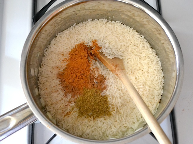 dry rice spices