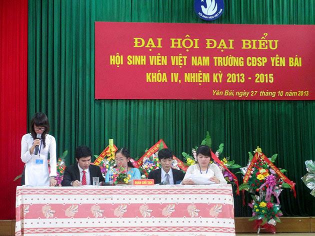 Đại hội đại biểu Hội Sinh viên Việt Nam trường Cao đẳng Sư phạm Yên Bái lần thứ IV, Nhiệm kỳ 2013 - 2015