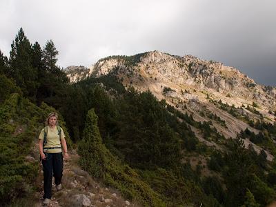 Deixem enrere la part més escarpada de la Serra del Verd