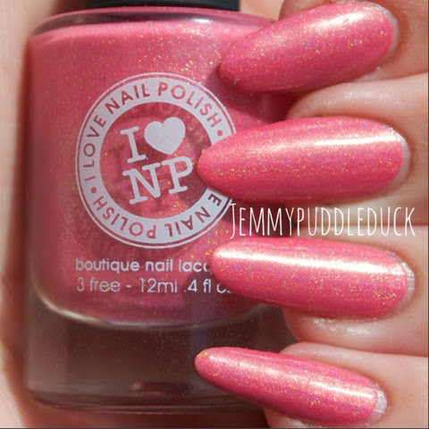 Cutie Pop ILNP I love nail polish us boutique lacquer coral pink