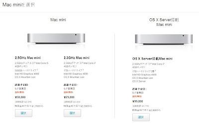 Mac mini Late 2012 Apple Store