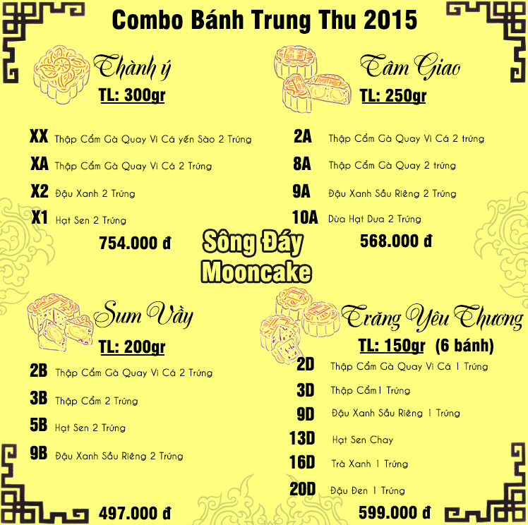 Combo bánh trung thu Givral 2015