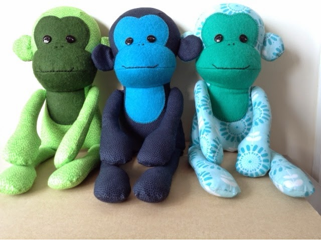 Fun of the Fair Monkeys made by fabricandflowers | Sonia Spence