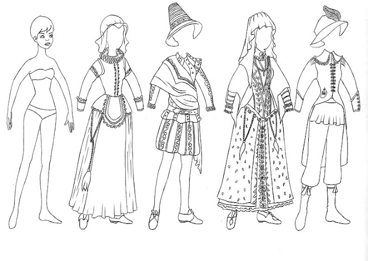 Muñecas para vestir para colorear - Imagui