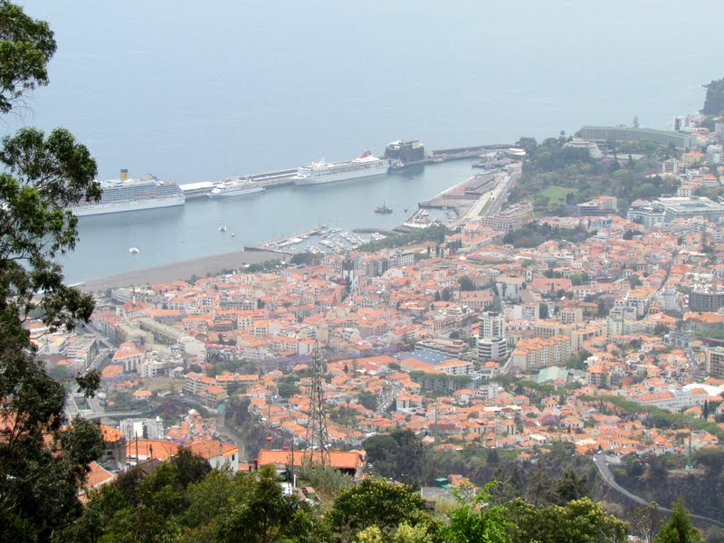 Funchal view from the mountains