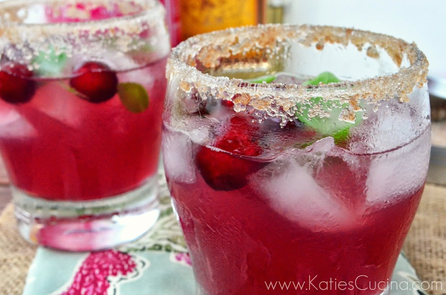 cranberry basil margarita from KatiesCucina.com #summersippers #recipe #drink #margarita