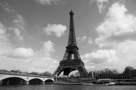 Tour Eiffel, blanco y negro