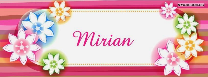 Capas para Facebook Mirian