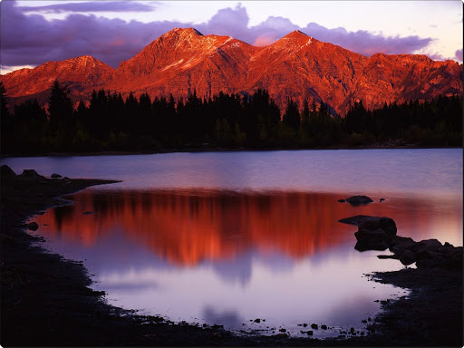 Sunset Glow on Lost Lake and the Ruby Range, Gunnison National Forest, Colorado.jpg