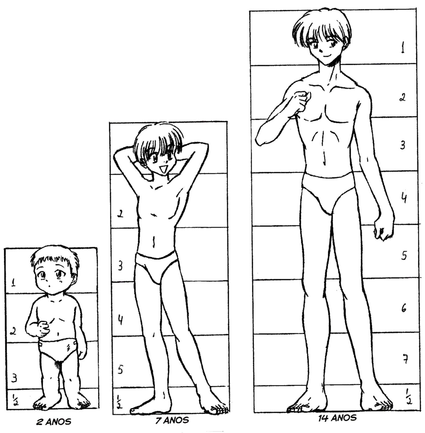 Blog Jose Petri Desenhando Um Personagem Masculino Variacoes De