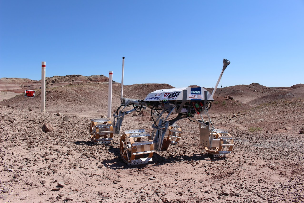 The ERIS Project ARES ROVER contemplates the infamous 1 meter drop gate