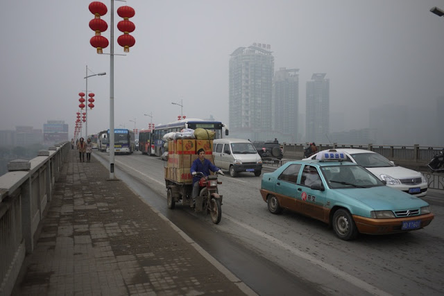 traffic in Hengyang, Hunan province, China