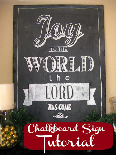 Chalkboard Sign Tutorial