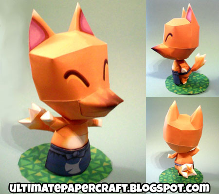Animal Crossing Redd Papercraft