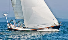 J/42 superstar- Tom Babbitt- sailing fast from lee helm!