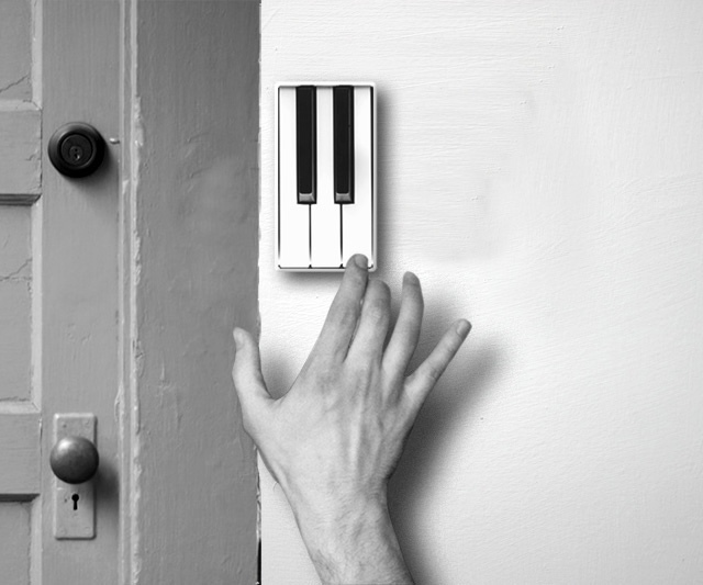 Playful piano doorbell by Li Jianye