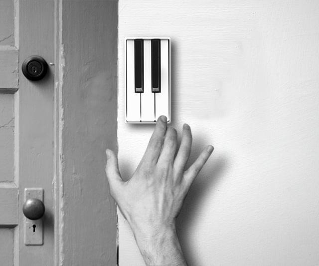 Playful piano doorbell by Li Jianye