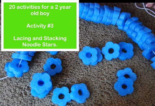 Lacing and Stacking a Pool Noodle.