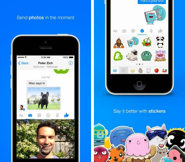 Facebook Messenger se actualiza en el iPhone para compartir mejor fotos y vídeos