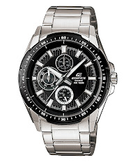 Jam Tangan Pria Formal Tali Stainless Silver Rose Gold Casio Edifice : ESK-300SG-1AV