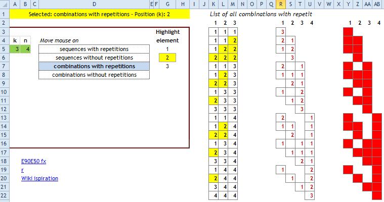 Combinatorics using Excel formulas - E90E50fx