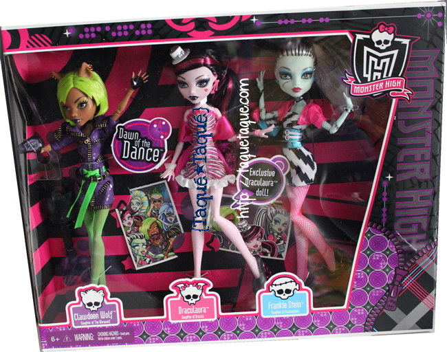 mi Pack de 3 Monster High Dawn of the Dance en el que viene Draculaura