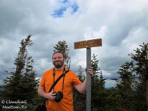 Tura la munte in Canada. Mont Orford.  Andrei si Varful Ursului (Pic de L'Ours, 745m)