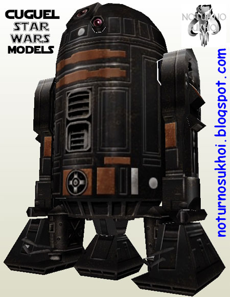 Star Wars Black R2D2 Papercraft