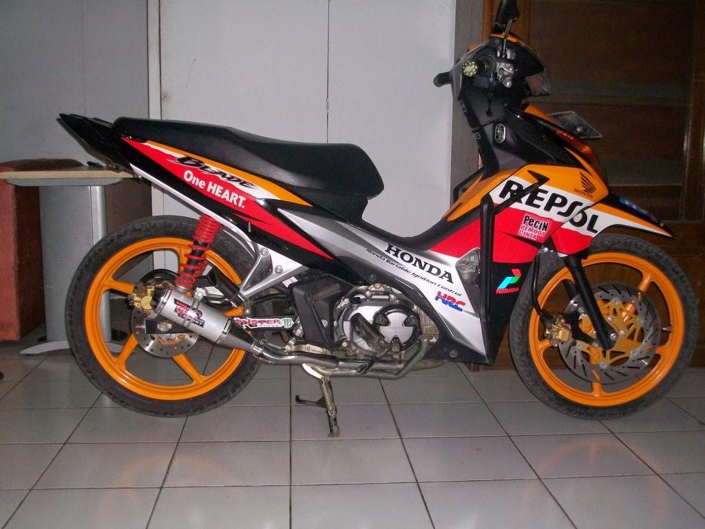Harga Modifikasi Motor Honda Blade Biaya Modifikasi Motor Honda