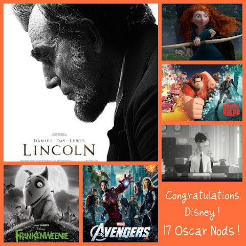 2013 Oscar Nominations - Disney Receives 17