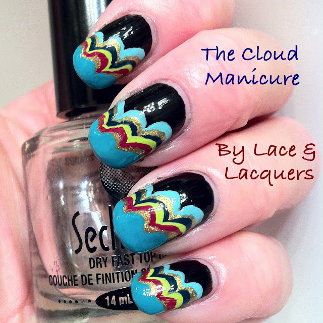 Lace And Lacquers Nail Art Week Day 7 The Cloud Manicure