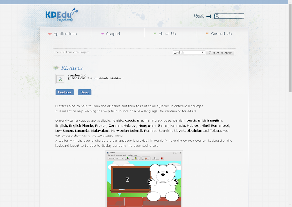 KLettres « Open Source Software