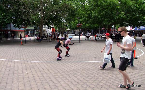 skating in garema place
